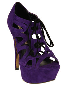 Buffalo Platform Stilettos Purple