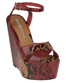 Buffalo Snakeskin Wedges Wine