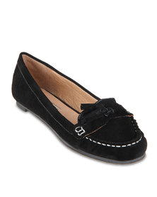 Buffalo Moccasin Pumps Black