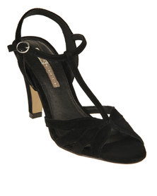 Buffalo Heeled Sandals Black