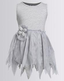 Bugsy Boo Tulle Dress Grey
