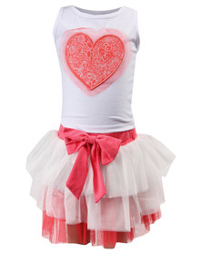 Bugsy Boo Heart Tulles Set Red