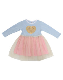 Bugsy Boo Heart Tulle Dress Pink
