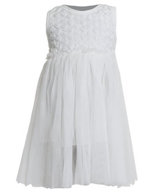 Bugsy Boo Rose Tulle Dress White