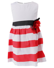 Bugsy Boo Red and White Dress Red/White