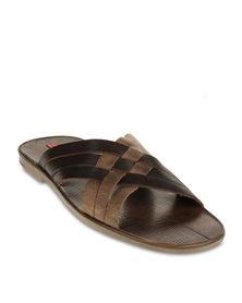 Bullboxer Len Weave Sandals Brown  - Warehouse Sale