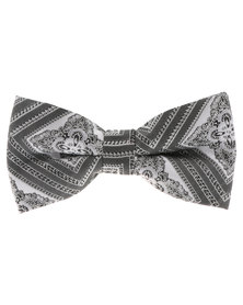 C Squared Paisley Bow Tie Grey
