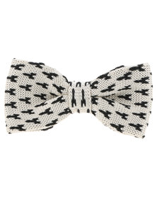 CSquared Geometric Knitted Bow Tie White and Black