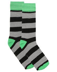 CSquared Colour Pop Stripe Socks Green