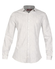 CSquared Printed Button-Up Shirt White