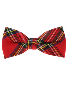 CSquared Tartan Bow Tie Red