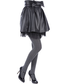 Cameo Viscose Mix Tights Charcoal