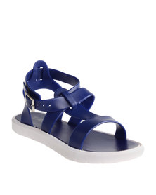 Candy Plain Jelly Sandals Navy