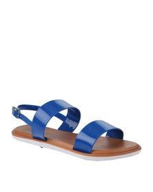 Candy Flat Slingback Sandal Blue
