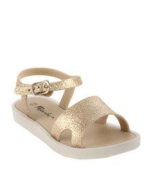 Candy Glitter Jelly Sandal Gold