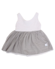 Candy Floss Clouds Dress Grey/White