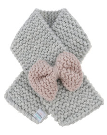 Candy Floss Clouds Bow Scarf Grey