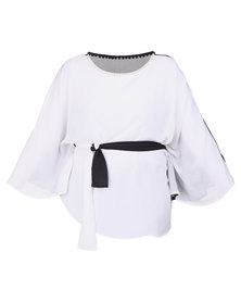 Captive8 Chiffon Kimono White
