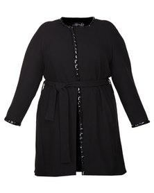 Captive8 Embellished Coat Black