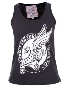 Carbon Laundry Vintage Rebel Vest Black