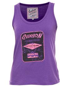 Carbon Laundry For Race Engines Vest Purple