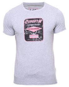 Carbon Laundry Gasoline Print T-Shirt Grey