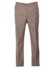 Carducci Regular Fit Trousers Beige