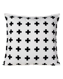 Casa Culture Swiss Cross Cushion Black