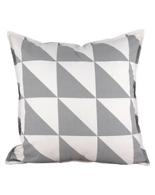 Casa Culture Large Triangles Cushion Grey