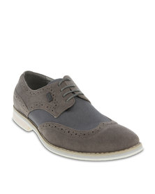 Casoli Patched Casual Brogues Grey