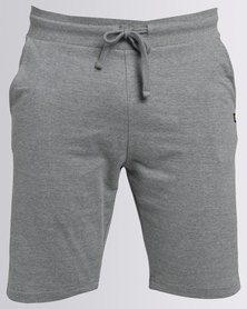 Caterpillar Knit Shorts Grey