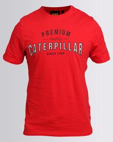 Caterpillar Premium Quality Tee Red