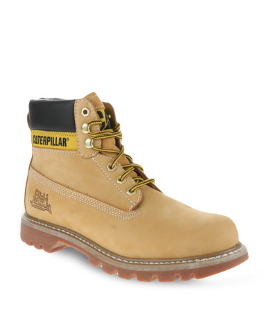 Caterpillar Colorado Leather Ankle Boots Honey