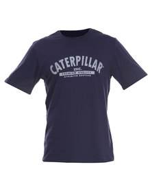 Caterpillar Printed Logo Tee Navy