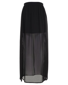 Catwalk 88 Giselle Overlaying Skirt Black