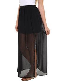 Catwalk 88 Giselle Overlaying Skirt Black