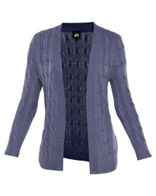 Catwalk 88 Long Sleeve Cable Knit Jersey Blue