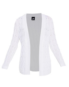 Catwalk 88 Long Sleeve Cable Knit Jersey White