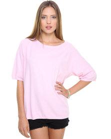 Catwalk 88 Lightweight Scoop Neck Jersey Pink