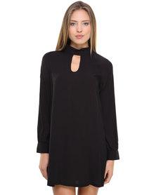 Catwalk 88 Keyhole Dress Black