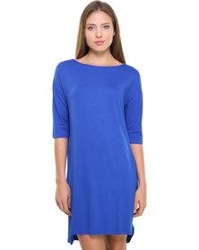 Catwalk 88 Tail Hem Dress Blue
