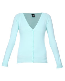 Catwalk 88 Long Sleeve Cardigan Aqua