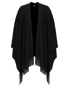 Catwalk88 Barbara Fringe Cardigan Black