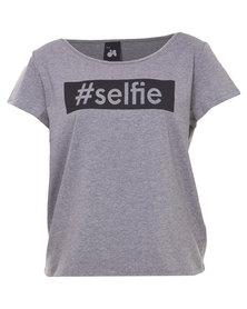 Catwalk 88 Selfie Top Grey