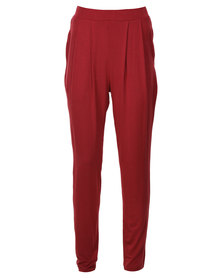 Catwalk 88 Ceci Pleated Trousers Burgundy