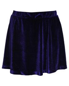 Catwalk 88 Velveteen Skirt Blue