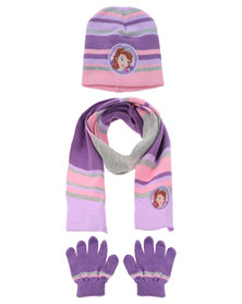 Character Brands Sofia The First 3 Piece Set Purple