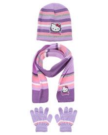 Character Brands Hello Kitty 3 Piece Set Purple