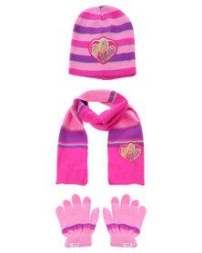 Character Brands Barbie 3 Piece Set Pink