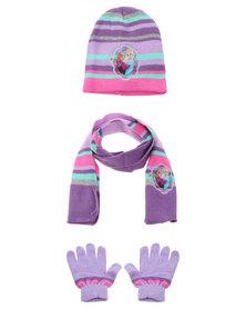 Character Brands Frozen 3 Piece Set Purple